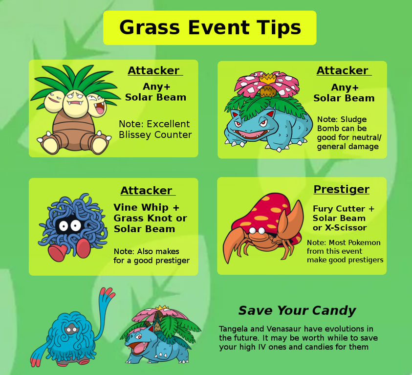 There's no useless grass Pokémon