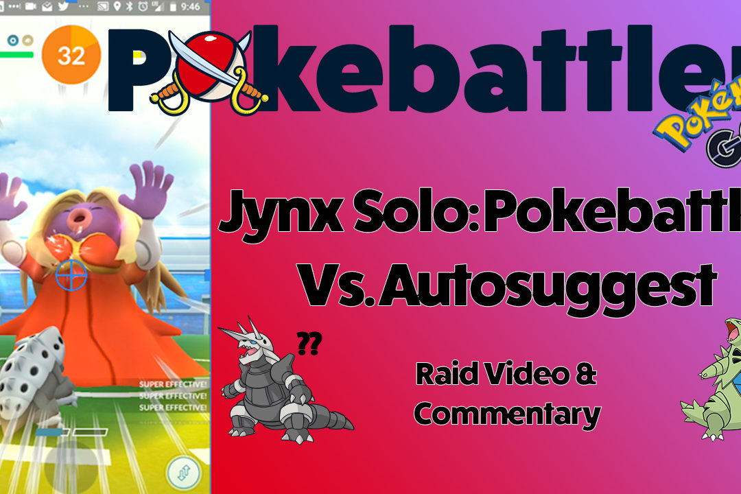 Pokebattler vs. In Game Autosuggest with a Jynx Solo, and new full raid simulation Battle Parties!