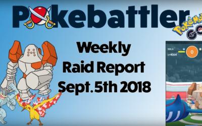 Weekly Raid Report September 5th
