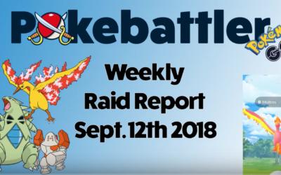 Weekly Raid Report Sept 12th