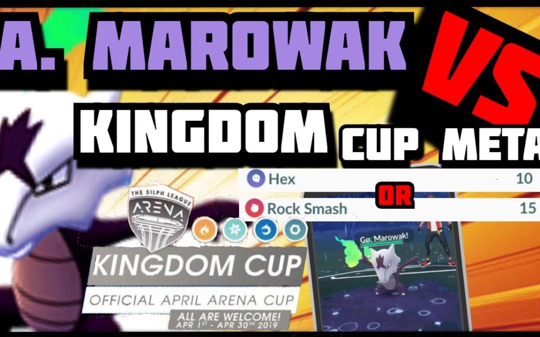 Hex or Rock Smash?! | Marowak vs The Kingdom Cup | Pokemon Go PvP
