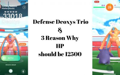 Defense Deoxys Trio & 3 Reason Why 12500 HP Should Return