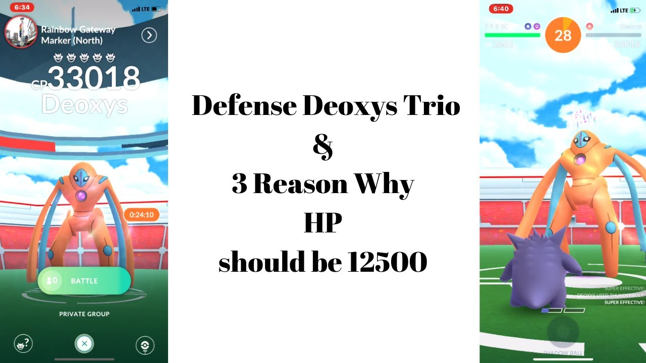 Defense Deoxys Trio & 3 Reason Why 12500 HP Should Return
