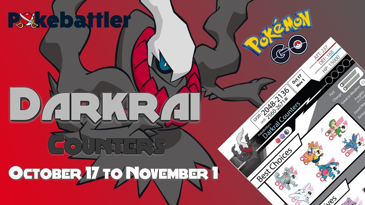 Pokebattler's Comprehensive Darkrai Raid Guide! [Tier 6]