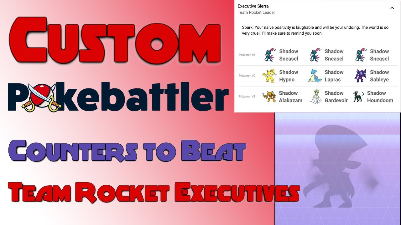 Custom Counters to Beat Team Rocket