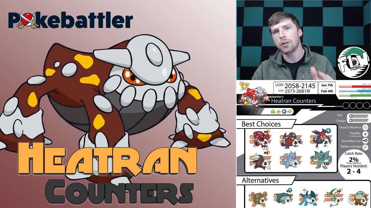 Pokebattler's Heatran Counters Raid Guide and How to Duo Heatran
