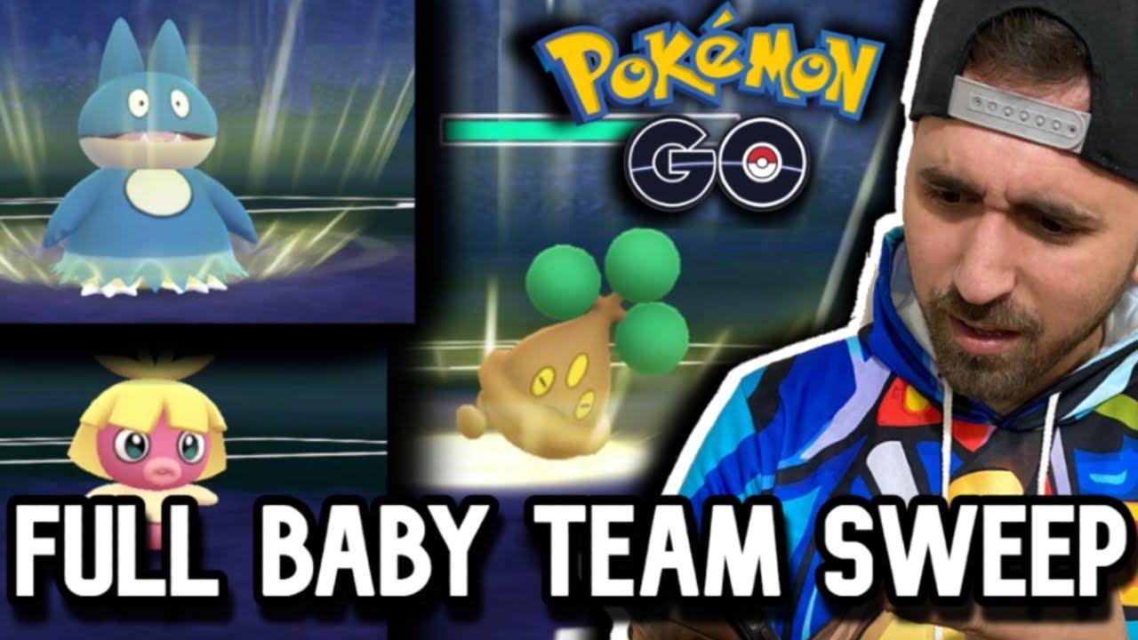 BABY TEAM SWEEPS GO BATTLE LEAGUE !! | Pokemon Go Pv
