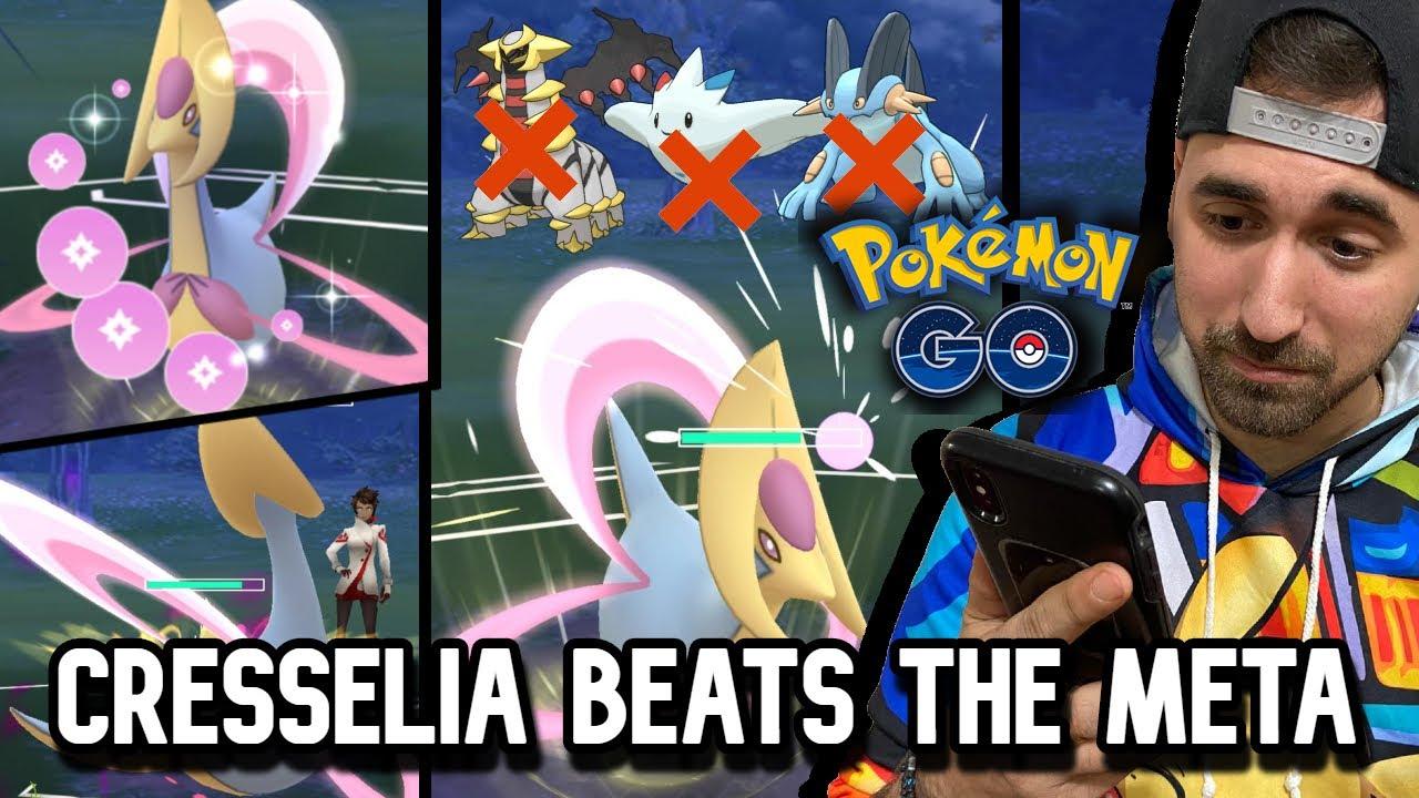CRESSELIA BEATS THE META! GO BATTLE LEAGUE | POKEMON GO PVP