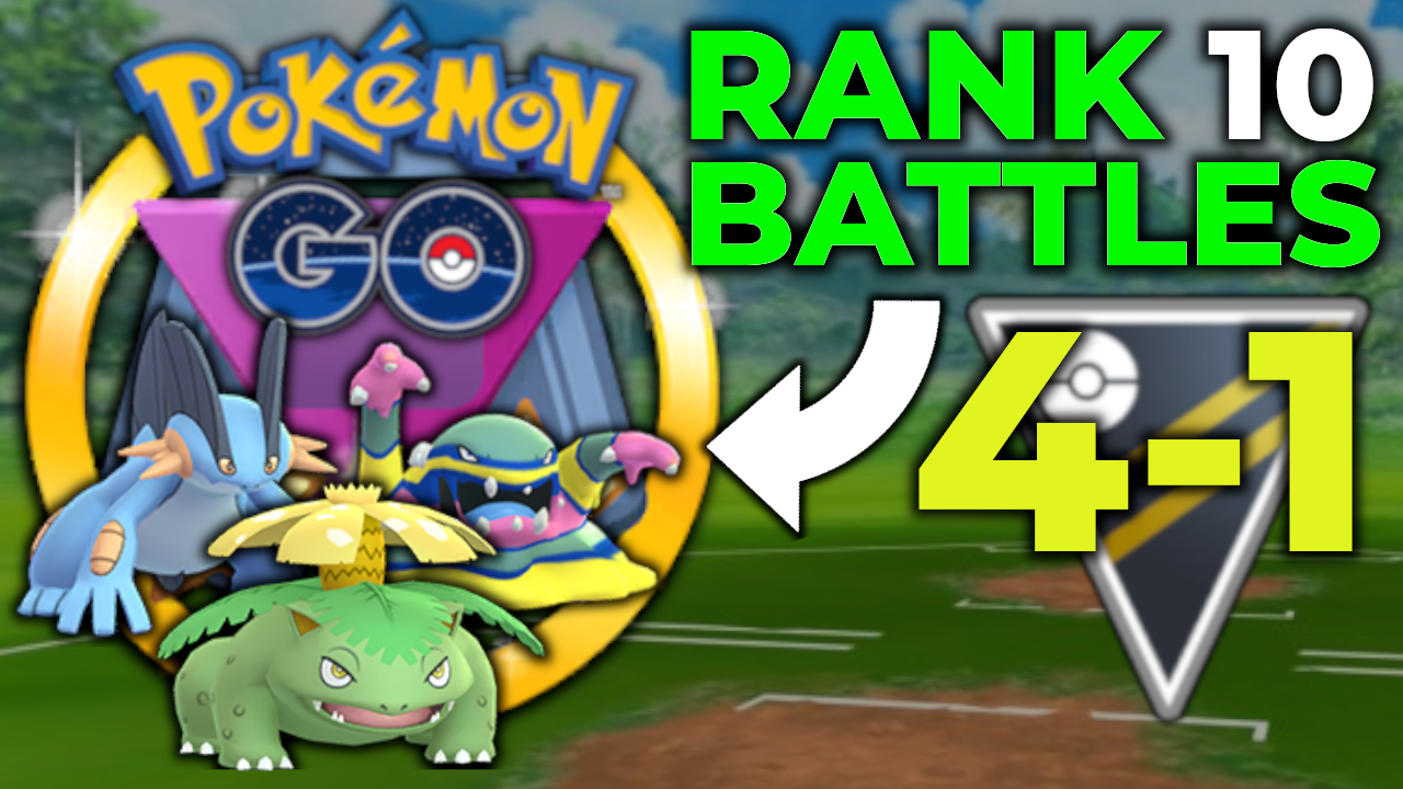 4-1 AT RANK 10 WITH BUDGET * GO BATTLE LEAGUE * TEAM IN ULTRA LEAGUE | POKEMON GO PVP