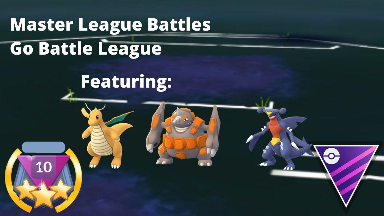 Master League Battles | Go Battle League (Feat Garchomp, Rhyperior and Dragonite)