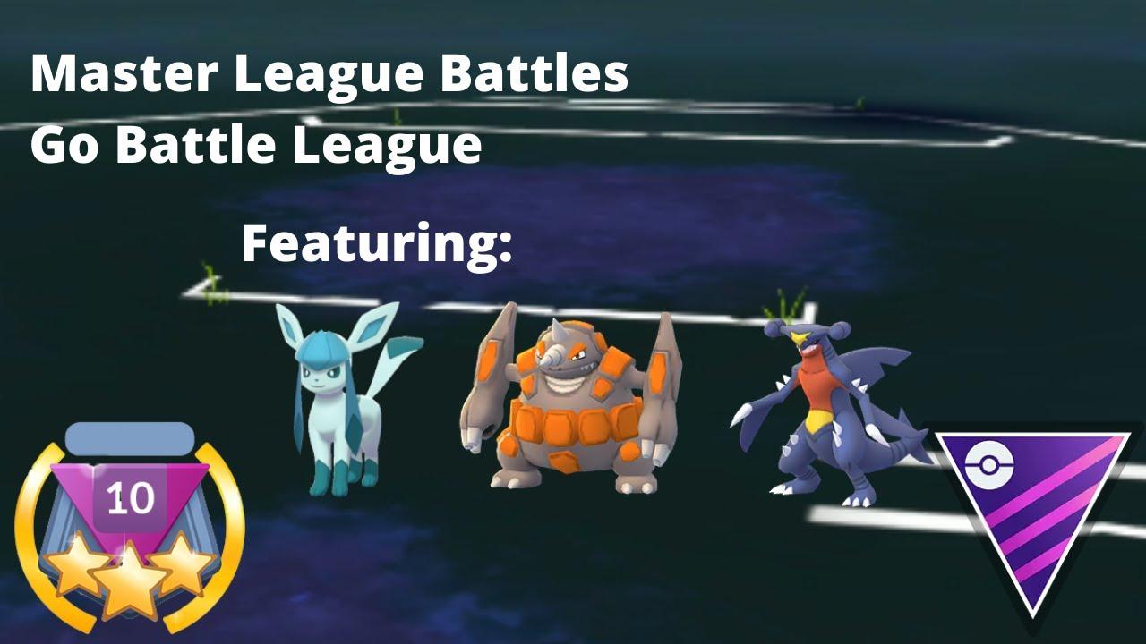 Master League Battles | Go Battle League (Feat Glaceon, Rhyperior and Garchomp)