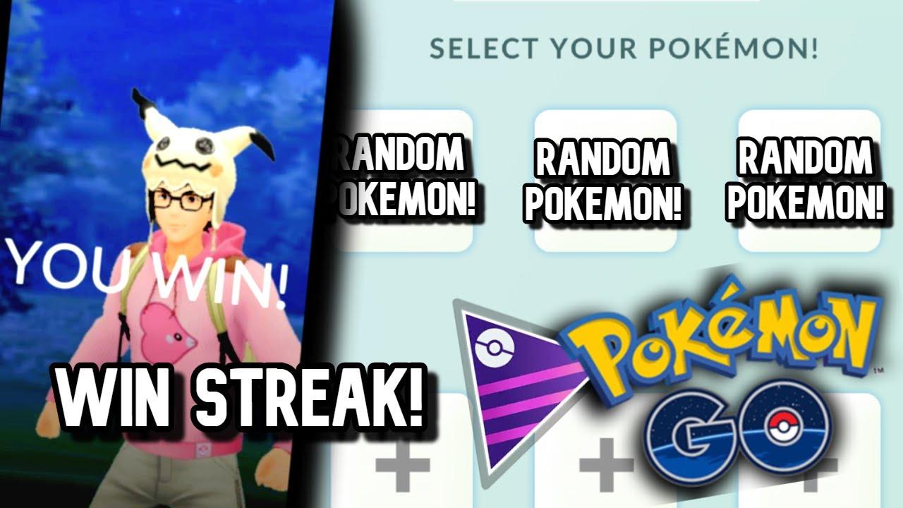WIN STREAK WITH A RANDOMLY-PICKED TEAM! | Pokemon GO