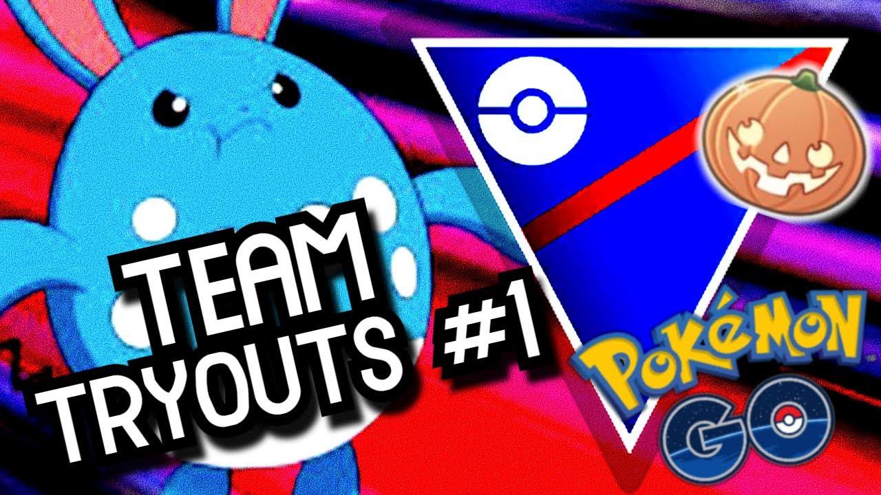 HALLOWEEN CUP TEAM TRYOUTS #1 | Pokémon GO Battle League