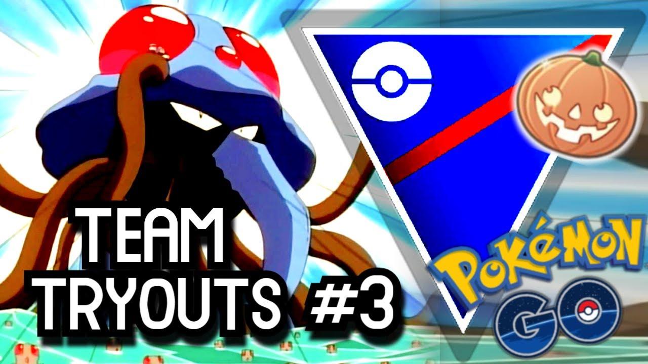 HALLOWEEN CUP TEAM TRYOUTS #3 | Pokemon GO Battle League