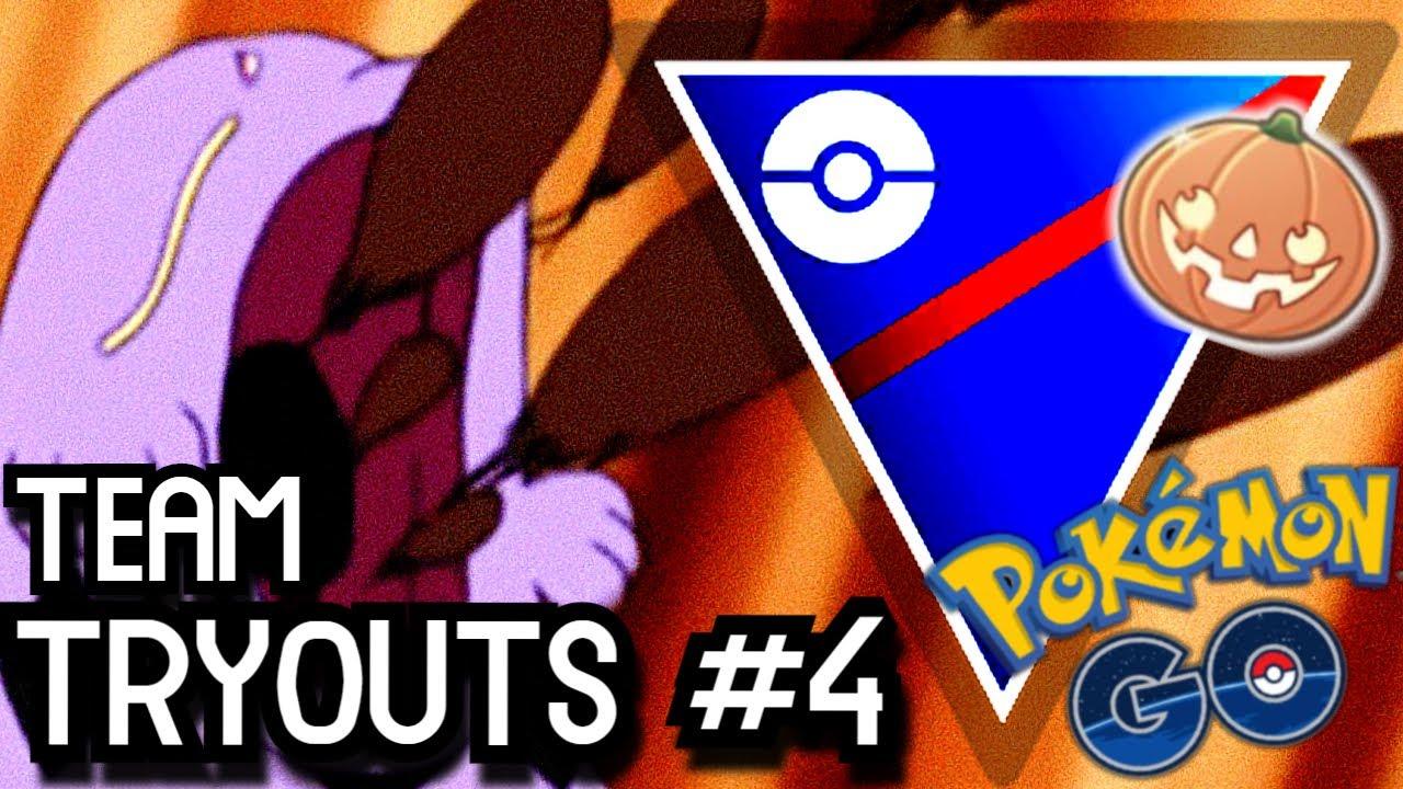 HALLOWEEN CUP TEAM TRYOUTS #4 | Pokémon GO Battle League