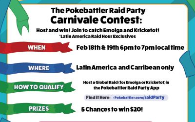 The Carnivale Contest: Host and win! Join to catch Emolga and Kricketot!
